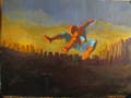 Spider-Man Swinging home