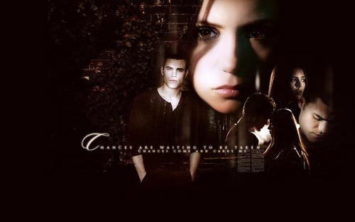 Stefan and Elena wallpaper
