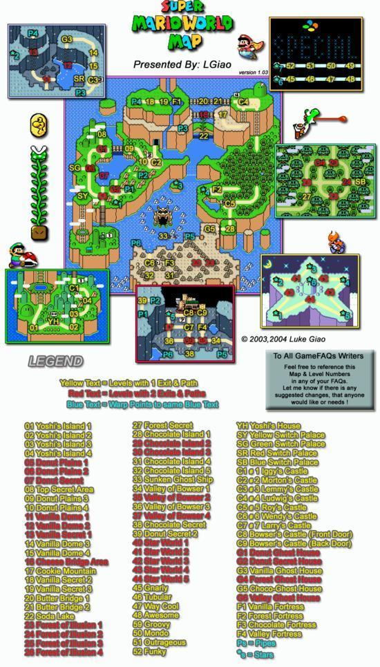 Super Mario World Map - Super Mario World Photo (10834633 ...