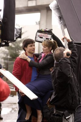 Tom & Erica On Set <3