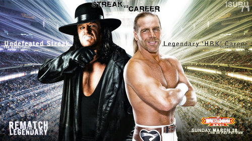 WWE 壁紙 entitled Undertaker vs Shawn Michaels