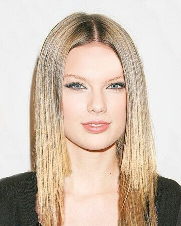 Taylor with straight hair