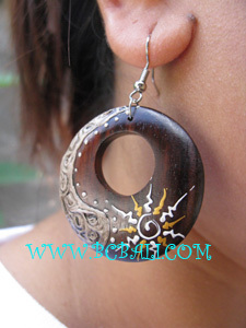 Wooden Piercing Handmade jewelry