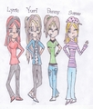 Yuri, Penny, Sumer, and Lyric xD - total-drama-island fan art