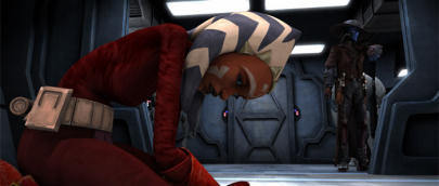 ster Wars: Clone Wars achtergrond entitled ahsoka captured cargo of doom