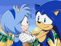 blue sonic and amy2