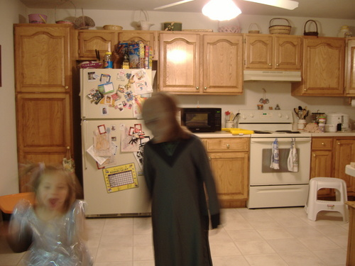 me scaring the crap out of my sissy at halloween