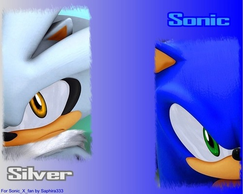 sonic and silver 壁紙