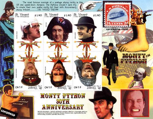 Monty Python wallpaper titled stamp