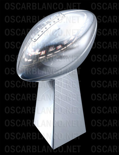 the super bowl trophy!!! it is amazing!!!!