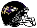 thwe ravens of baltimore. thier helmet!!!!!