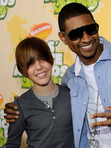 Usher and Justin Bieber!