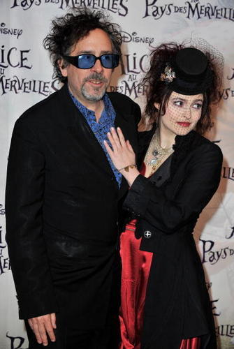 Helena Bonham Carter/Tim Burton wallpaper called 2010 Alice in Wonderland Paris premiere