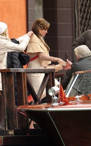 "Angelina on set ""The Tourist"""