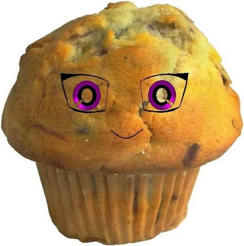 animê queque, muffin