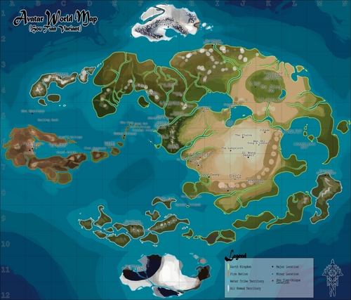 Avatar – Der Herr der Elemente Hintergrund titled Avatar World Map