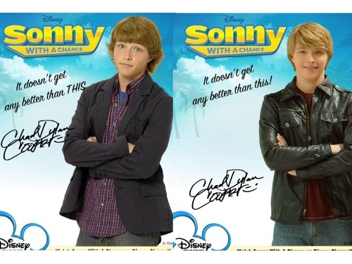 Sonny With A Chance achtergrond titled Before and After-Chad