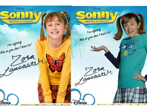 Sonny With A Chance پیپر وال entitled Before and After-Zora