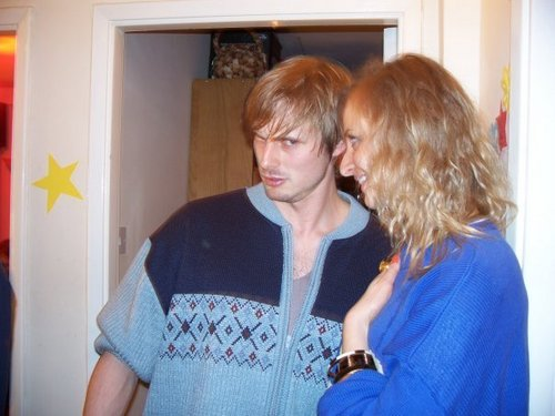 Bradley and his girlfriend - merlin-on-bbc Photo