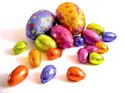 Coloured easter eggs - easter Wallpaper