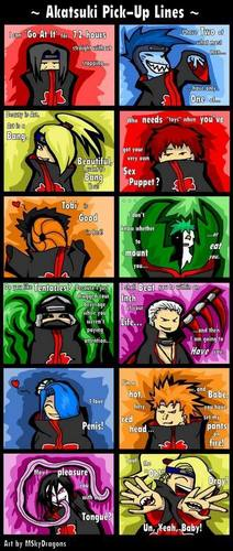 Complete akatsuki pick up lines