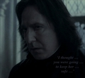 Crying Snape with Quote