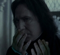 Crying Snape (with hands)