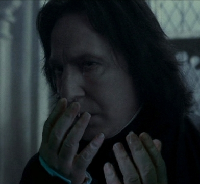 Severus Snape wallpaper titled Crying Snape (with hands)