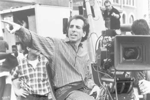 Director Jerry Zucker behind the set of Ghost