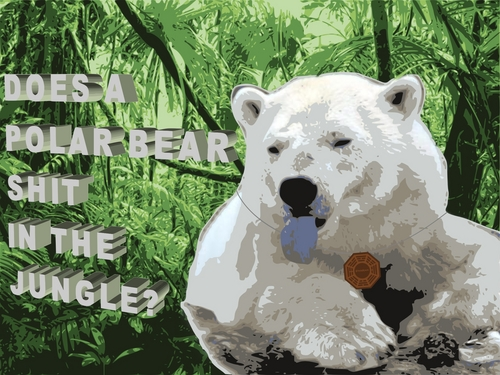 Does a Polar oso, oso de shit in the jungle?