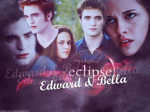 এডোয়ার্ড ও বেলা দেওয়ালপত্র titled EB Eclipse