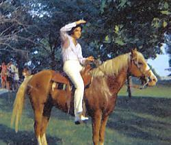 "Elvis On His Horse ""Rising Sun"""