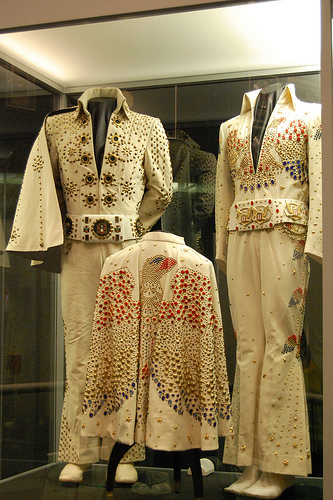Elvis's Jump suits On Display At Gracelands