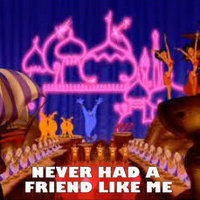 Disney Males Photo Entitled Genie And Aladdin In Never Had A Friend Like Me