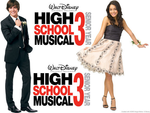 High School Musical 3 kertas dinding titled HSM 3