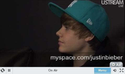 J.Bieber live at chat