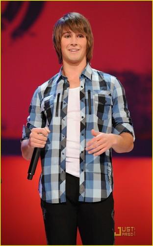 James on stage