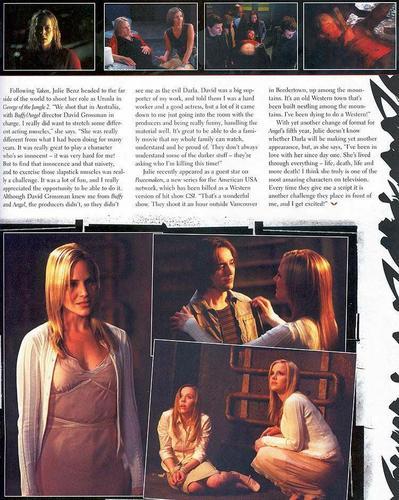 Julie Benz - malaikat Magazine - July/August 2004
