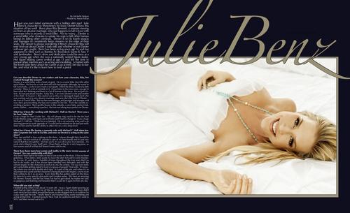 Julie Benz - संगीत Fashion Magazine - Winter 2010 Scans