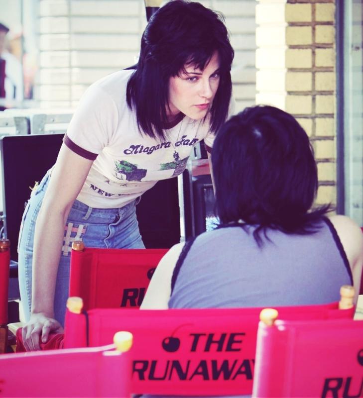 """Kristen Stewart on the set of """"The Runaways"""""""