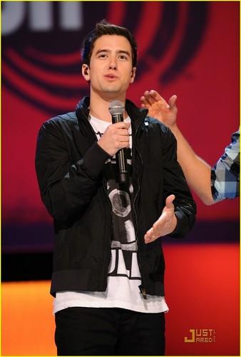 Logan on stage