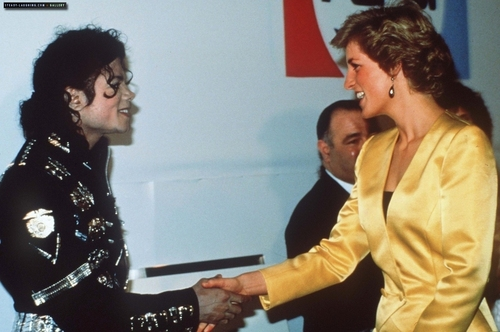 MJ and princess Diana