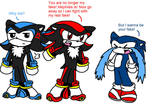 Shadow The Hedgehog kertas dinding called Mephiles Takes over for Sonic
