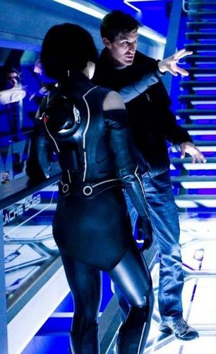 Olivia Wilde Behind The Scenes of 'Tron 2.0'