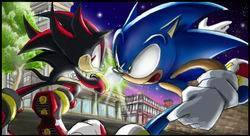 Sonic vs Shadow combate