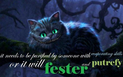 The Cheshire Cat - alice-in-wonderland-2010 Wallpaper
