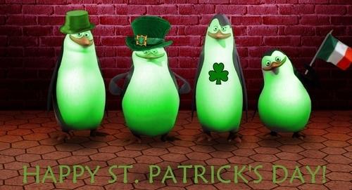 The Penguins Celebrate St. Patrick's день