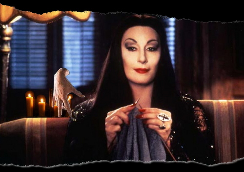 Thing and Morticia