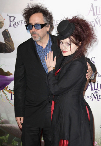 Tim Burton & Helena Bonham Carter @ the French Premiere of 'Alice In Wonderland' - tim-burton Photo