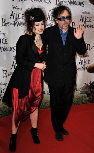 Tim Burton & Helena Bonham Carter @ the French Premiere of 'Alice In Wonderland'